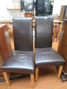 2 x Leatherette Dinning Chairs