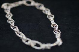 Silver Big Link Necklace