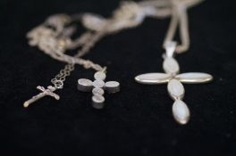 3 Silver Cross and Chains