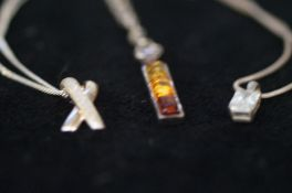 4 Silver Necklaces