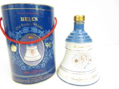 A bottle of Bells whisky 1990 full and unopened 7