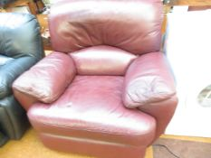 A Leather Electric Reclining Arm Chair