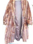 A 3/4 Length Fur Coat