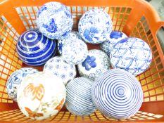 A collection ceramic carpet bowls
