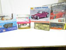 A collection of model vehicles