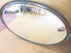 Earliest 20th Century Bevelled Mirror with Heavy C