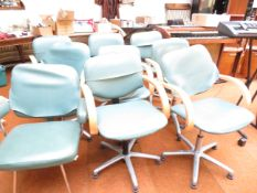 9 x Hairdressers Chairs with Aluminium Swivel base
