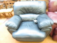 A Leather Electric Reclining Arm Chair Good condit