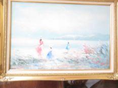 A Large Oil Canvas Seascape