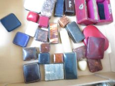 A Collection of Vintage Jeweller Cases