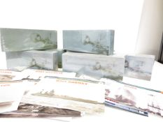 Collection of boxed model battle ships (Total of 7