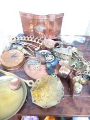 A Collection of Brass and Copper Ware