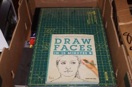 A box of drawing and etching equipment