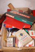 A box of vintage games