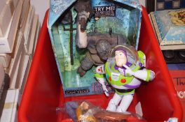 Buzz Lightyear, Woody and boxed Lord Of The Rings