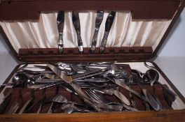 A cased canteen of cutlery