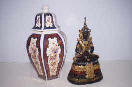 An Italian lidded temple jar together with an Orie
