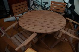 Pine Garden Table and Chairs