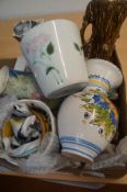 A Box of Ceramics to include Poole