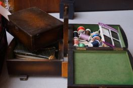 A Sewing Box and contents