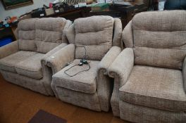 2 Seater Couch & 2 Chairs G Plan Good Condition