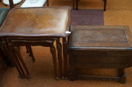 A Nester Table and a Small Drop Leaf Table