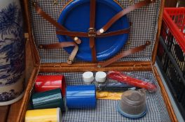 A Picnic Basket and Contents