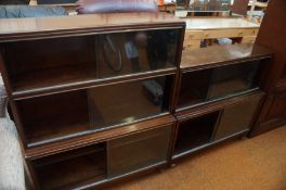 2 Minty Library shelves with Glass Sliding doors