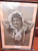 A Early Framed Print 67cm x 46cm with Frame