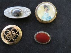 4 x Vintage Pin Brooches