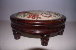 Round Victorian Foot stool