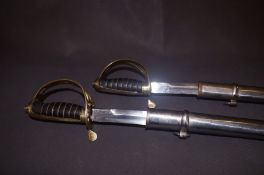 2x Good quality display sword with scabbards
