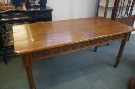 Early 20th century oak gothic campaign table - 85x