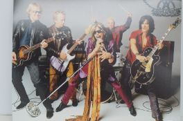 Aerosmith signed picture with coa stamp from vsaut