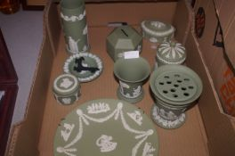 Collection of green Wedgwood