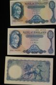 3 Early £5 notes- good condition