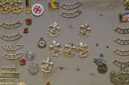 """A collection of badges """"Kings Regiment"""" and others"""