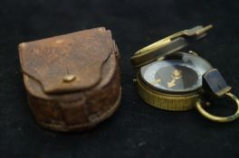 Original military compass dated 1915 with leather