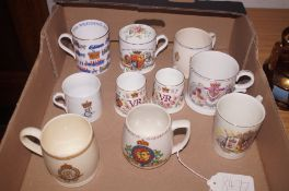 Collection of commemorative ware