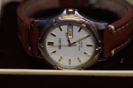 Gents Seiko day-date wristwatch