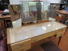 Retro mirrored dressing table