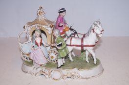 A Bond ware porcelain group figure