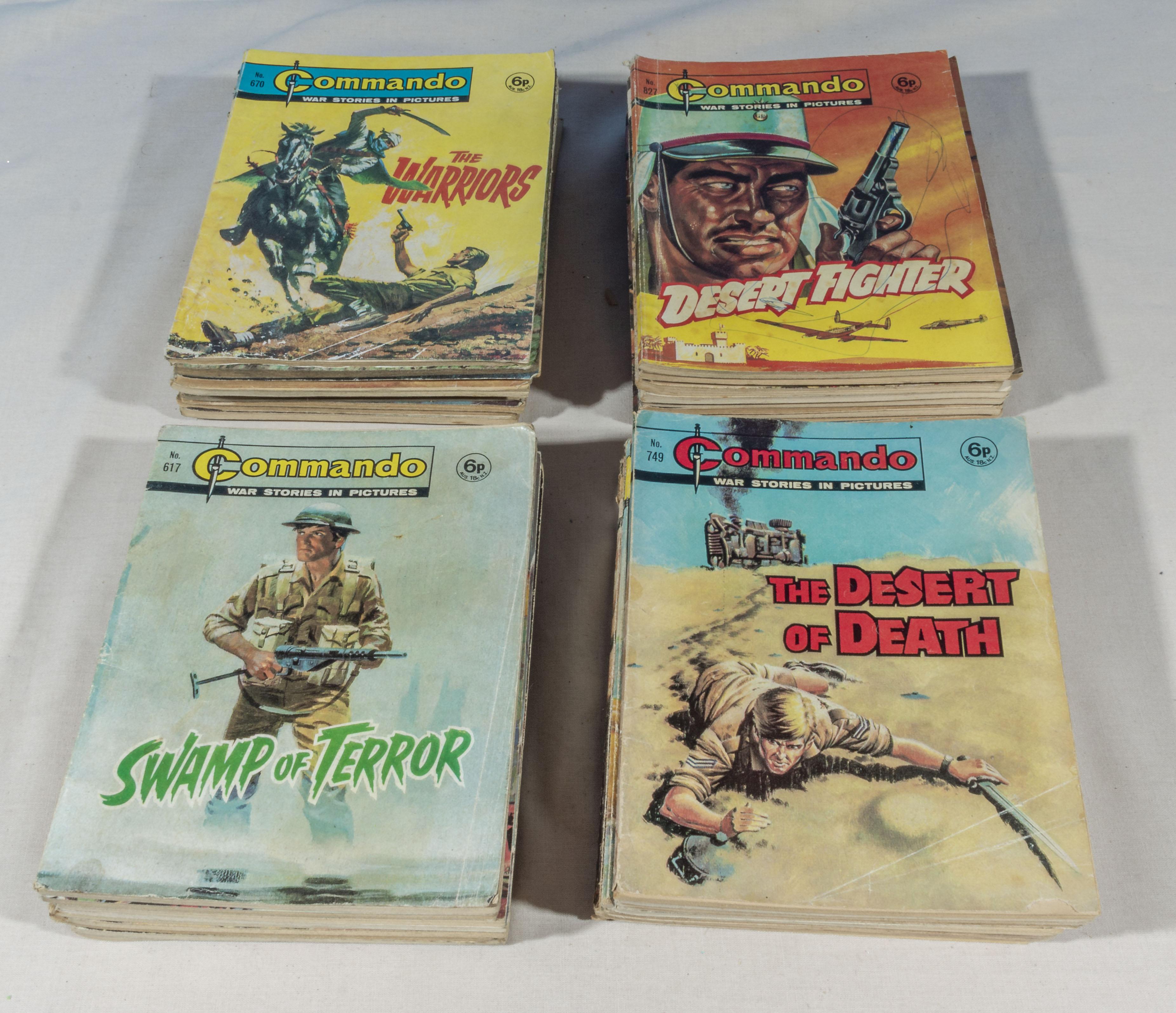 Lot 22 - 40 vintage Commando comics all 6p