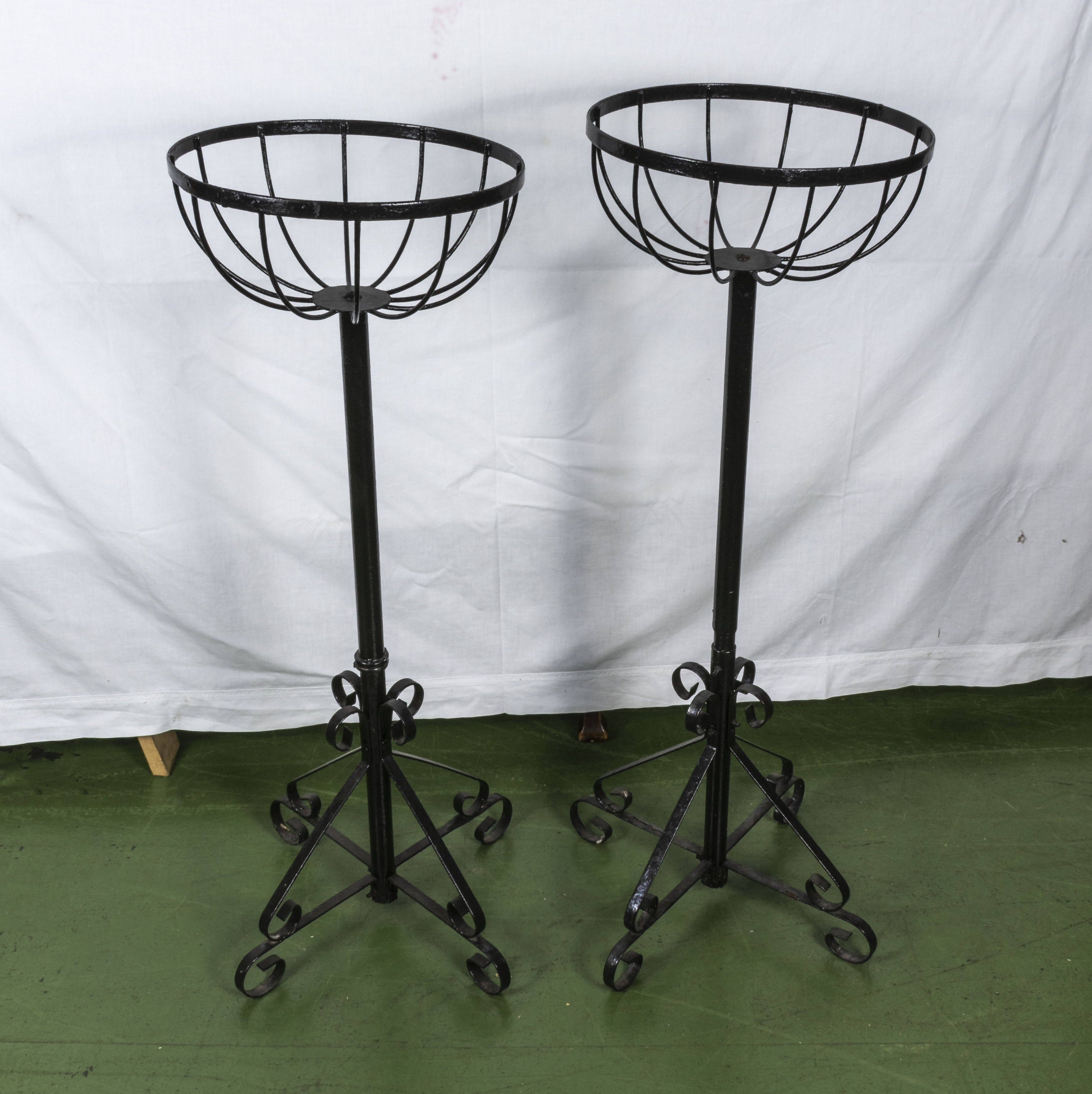 Lot 19 - Two wrought iron planters