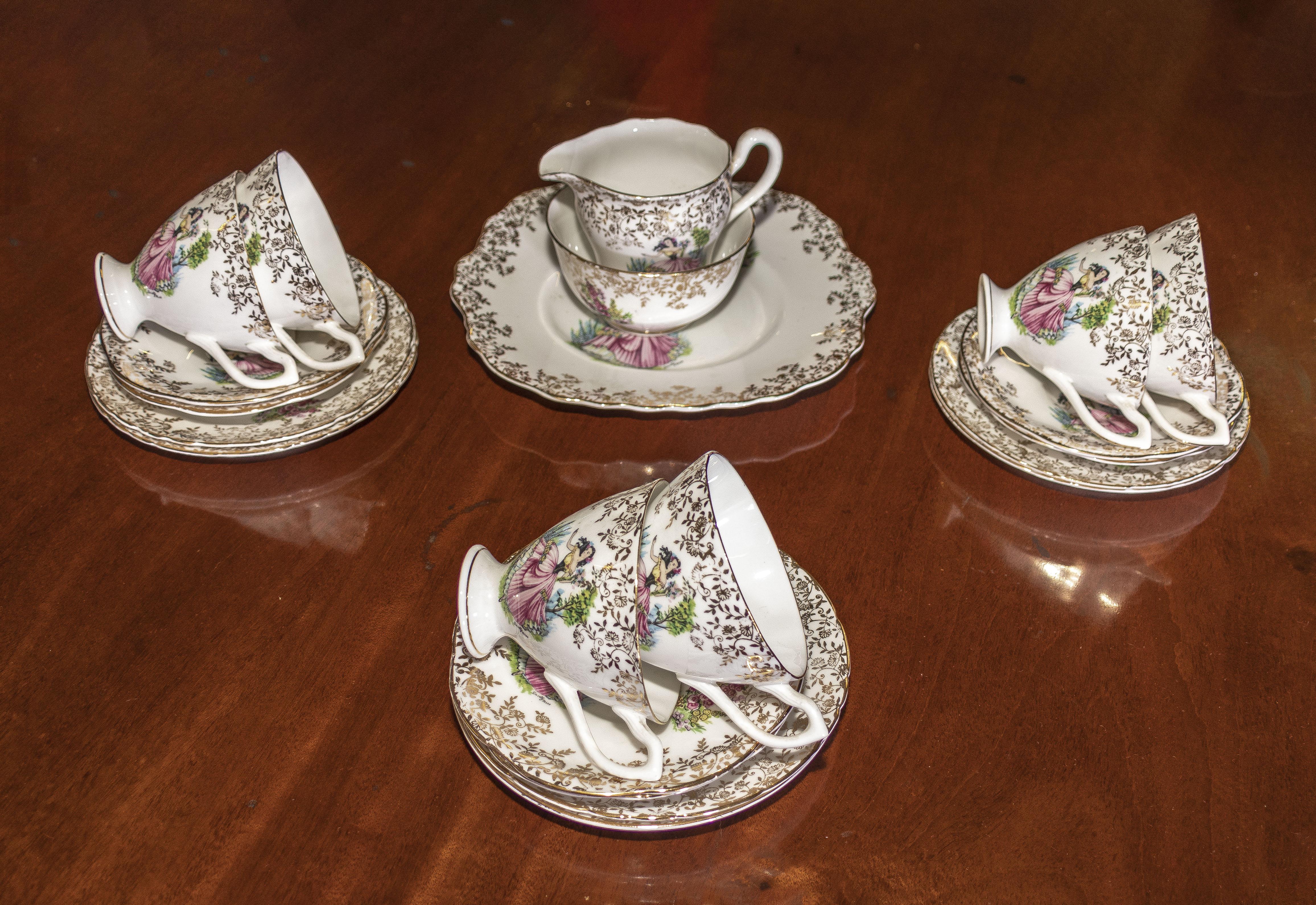 Lot 10 - A decorative part china tea set