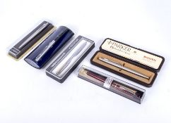 Six pens including Parker