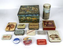 A collection of vintage tins