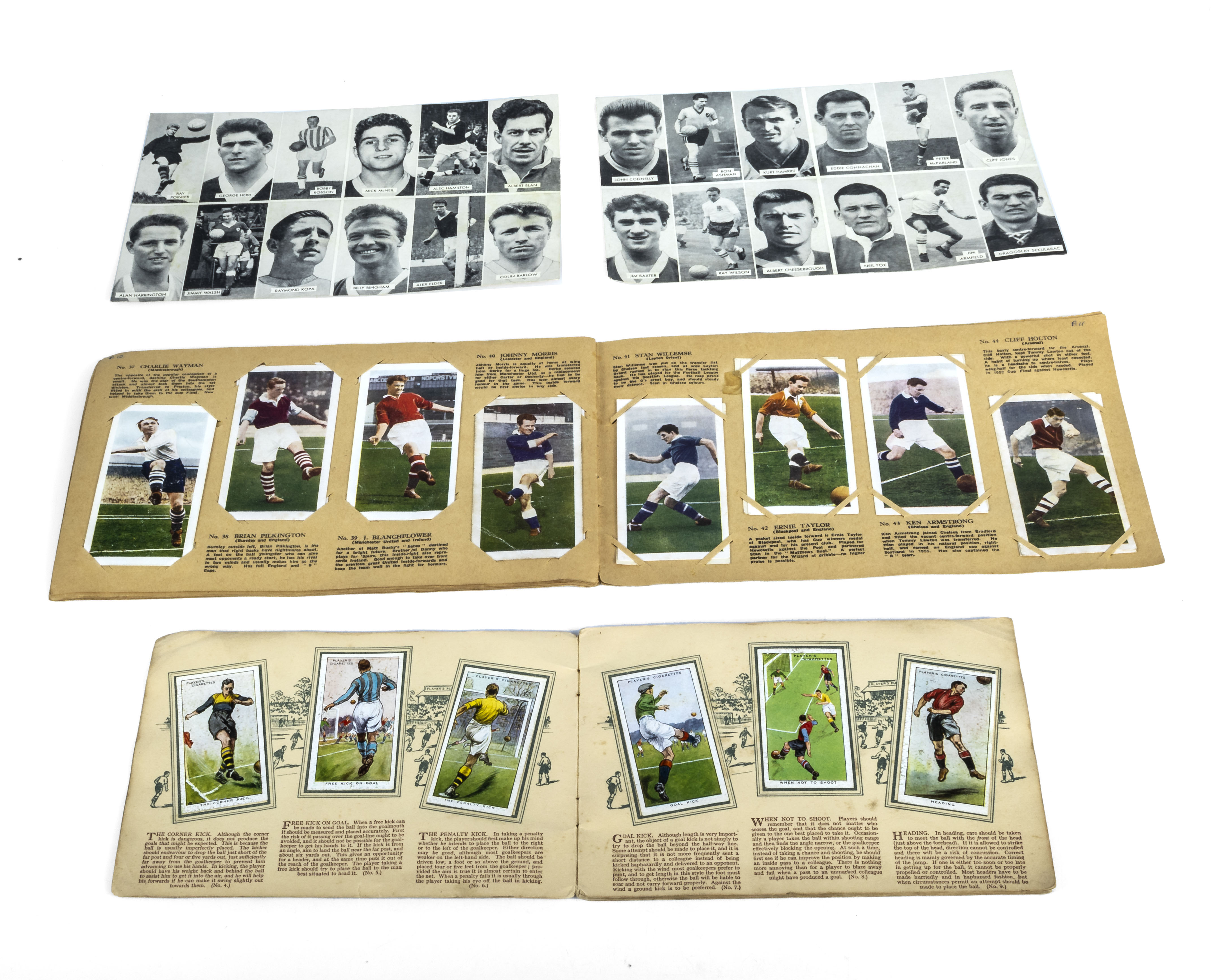 Football interest Chix bubble gum football picture album, complete set of 45 of this rare card