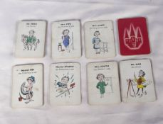 Set of 36 comic playing cards Miss dab the Artists daughter/Miss Fin the Fishermans daughter etc