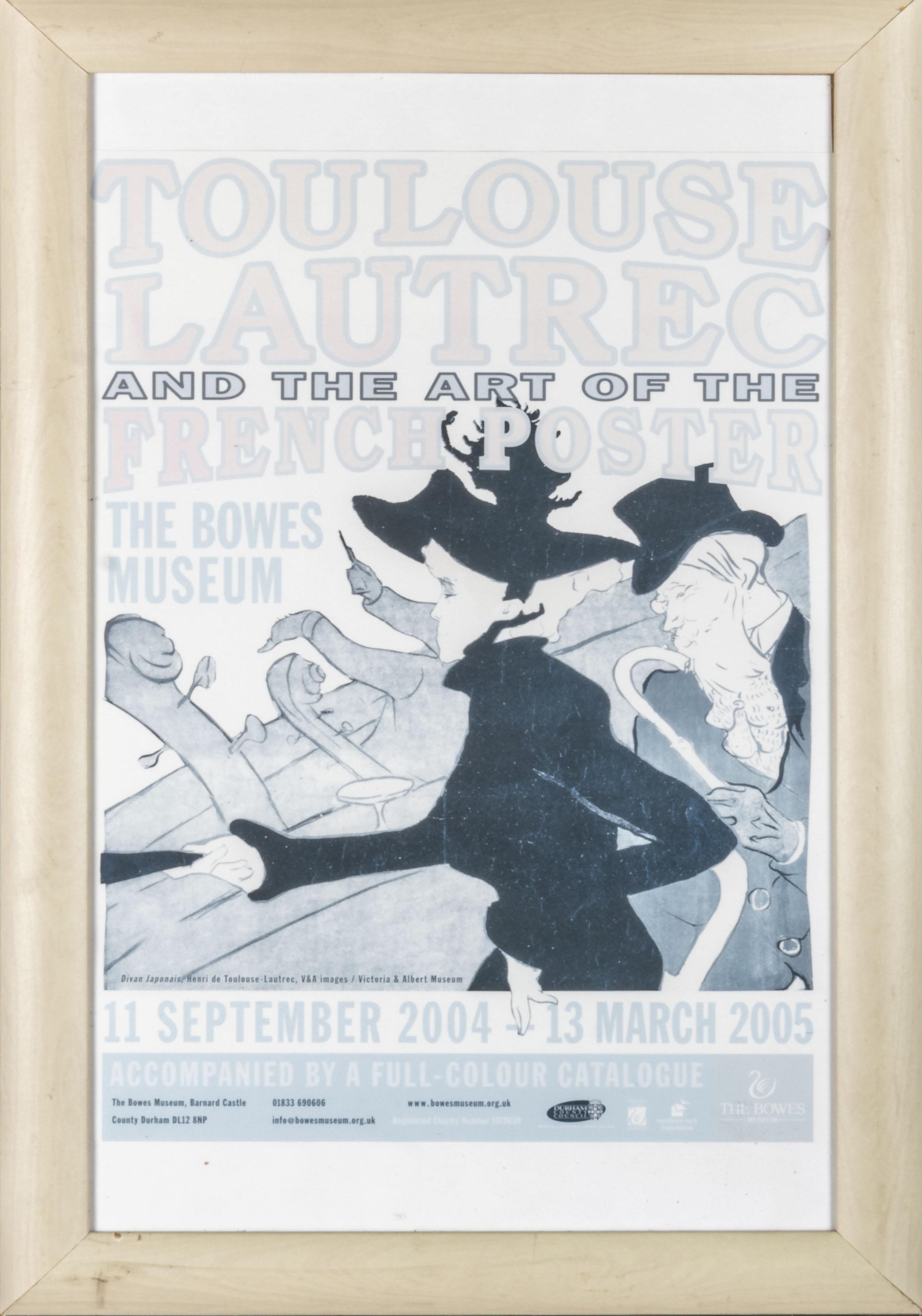 A framed print depicting Toulouse Lautrec 36cm x 56cm